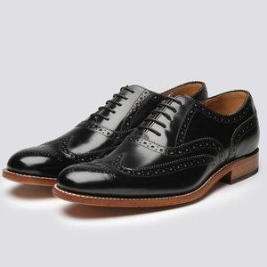 Grenson Dylan 8F Black Leather Oxford Broque